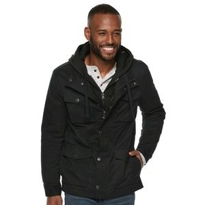 Marc Anthony Sherpa Lined Hooded Utility Jacket